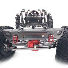 Axial SCX10 CNC Machined Aluminum Front Bumper With Tow Shackles Gun metal