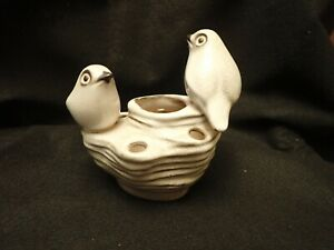 Howard Pierce California pottery, Two Birds on a rock flower frog