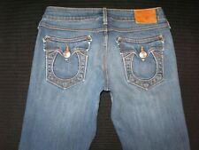 True Religion Carrie Bell Bottom Jeans Womens Sz 25 Low Waist Flare Stretch L32