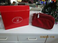 "AVON Beauty-On-The-Go Collection RED TOILETRY CARRY-ALL - 13 1/2"" x 8 1/2"""