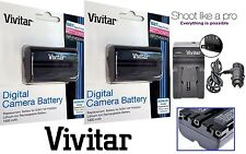 2-Pc NP-FM500H Li-Ion Battery With Charger For Sony Alpha DSLR-A300 DSLR-A350
