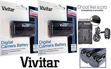 2-Pc NP-FM500H Li-Ion Battery With Charger For Sony Alpha SLT-A77 SLT-A77 II M2
