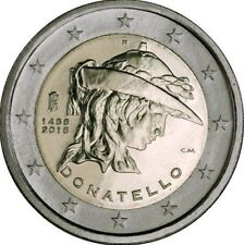ITALIA 2 EURO 2016 - CONM. 550 ANIV. DE LA MUERTE DE DONATELLO - SIN CIRCULAR