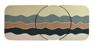 Vintage Large 1980's Abstract Geometric Fiber Art Wall Sculpture Jan Bruggeman