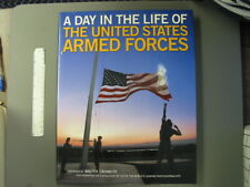 A Day In The Life Of The U.S. Armed Forces, hard dust cover,very large,256 pages