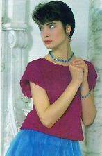 ~ Knitting Pattern For Lady's Pretty Lacy Top ~