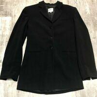 Women's ARMANI COLLEZIONI Blazer Designer Jacket Small Size 2 Italy Black