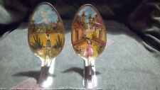 Two Authentic Large Mexican Spoon Paintings Folk Art (Ships Same Day!)