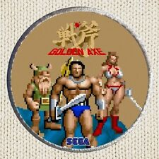 Golden Axe Patch Picture Embroidered Border Arcade Videogame Sega Barbarian Girl