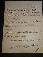 Auguste MAQUET LETTRE AUTOGRAPHE ST MESME DOURDAN MONTE CRISTO ALEXANDRE DUMAS