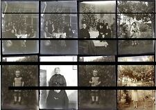 10 PLAQUES VERRE PHOTO NEGATIF 1933 MOSELLE HETTANGE GRANDE famille CHEF GARE