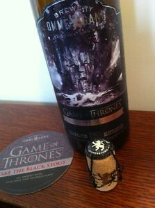 Game Of Thrones OMMEGANG Beer Bottle-Take The Black Stout With Free Coaster/mat!