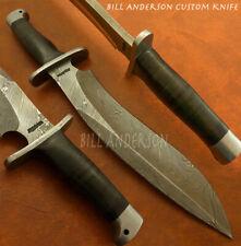 Bill Andersons Custom Hand Made Damascus Massive Sasquatch Bowie Knife