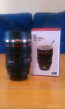 SLR Camera Lens Stainless Steel Travel Coffee Mug