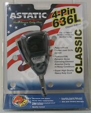 Retail Package ASTATIC 636 L noise canceling  CB  Ham Radio Microphone 4-pin Mic