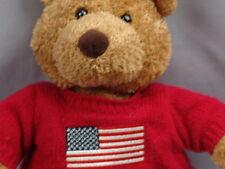 SAKS FIFTH AVENUE USA 4TH JULY STORE AMERICAN FLAG SWEATER PLUSH STUFFED ANIMAL