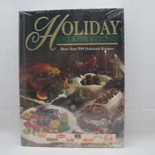 Holiday Christmas Thanksgiving Celebrations Name Brand Cookbook New Sealed HB