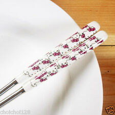 New Hello Kitty Head with Bow Stainless Steel Chopsticks KK53a