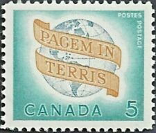 Canada    # 416   WORLD PEACE      New Original 1964  Pristine Gum Issue