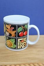 Mary Engelbriet Family Love Home Coffee Mug Black Checkered Dog Moon
