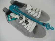 Women's Mad Love® Cheryl Lace-up Canvas Sneakers - Gray 9 New