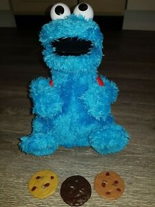 'count and crunch' Sesame Street Cookie Monster complete with  3 cookies