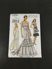 Vogue Sewing Pattern V8389 Long Mermaid Dress Formal Summer EE 14 16 18 20 Uncut