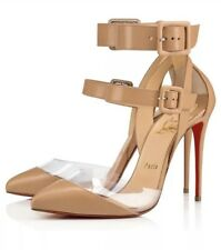 Christian Louboutin Pumps Women Multimiss Buckle High Heels Sandals Nude Shoes