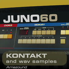JUNO-60 JUNO 6 for KONTAKT NKI + WAV SAMPLES 24BIT MAC PC MPC LOGIC PRO TOOLS FL