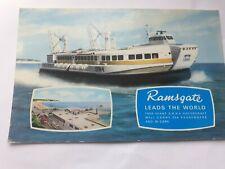 More details for antique & vintage postcard photo hoverport s.r.n.4 hovercraft ramsgate kent