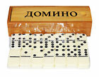 RUSO Juego Dominó Juego de mesa en caja de madera игра домино