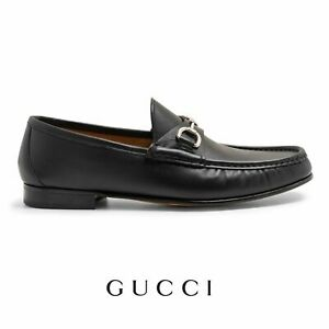 Men's Gucci Leather Shoes Horse Bit Black Loafers Brand New With Box RRP £535