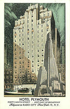 MANHATTAN NYC HOTEL PLYMOUTH 49TH STREET P/C