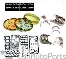 Acura Integra GSR Type-R 1.8 B18C1 B18C5 Full Set Piston Rings Main Rod Bearing