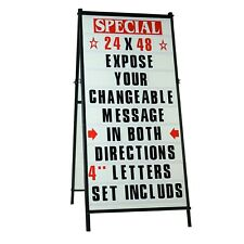 A Frame Sidewalk Changeable Letters Message Sign With 4 Letters Set 24x 48