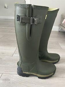 Women's Hunter Wellingtons Balmoral Olive Green Adjustable Side Size UK 5