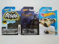 Hotwheels Batman Bundle 66 TV Batmobile The Tumbler & Arkham Asylum Batmobile