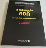 BOOK IL LINGUAGGIO ADA LE BASI DI PROGRAMMAZIONE SAXON FRITZ MASSON 8821405761