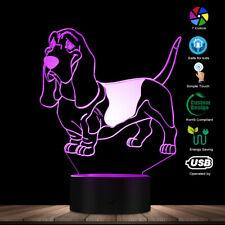 Basset Hound Lighting 3D Led Optical illusion Light Usb Night Lamp Dog Glowing