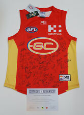 Gold Coast Suns 2018 Signed AFL Official Jumper + AFLPA COA Lynch May Martin