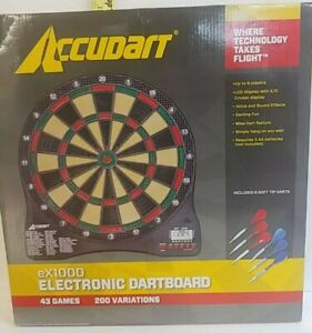 Accudart Electronic Dart Board Ex1000 43 Games 200 Variations