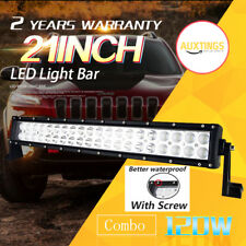 22INCH 120W LED WORK LIGHT BAR FLOOD+SPOT LAMP TRUCK 12V24V 4WD SUV JEEP DRIVING
