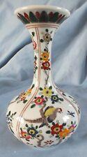 "Japanese Arita Aoki Vase Birds Flowers 6"""