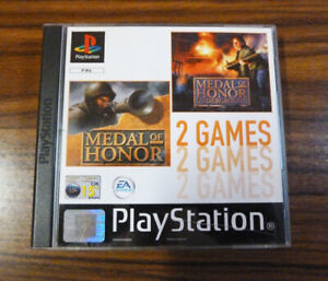 Medal of Honor + MOH Underground ~ Playstation ~ 2 Games ~ PS1 ~ PAL ~ EA Games