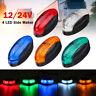 4 LED Side Marker Indicator Light Clearance Lamp Truck Trailer Lorry Van 12/24V