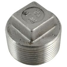 """304 Stainless steel Square Head Pipe fitting Plug 1-1/4"""" Malleable male threaded"""