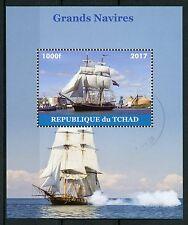Chad 2017 CTO Tall Sailing Ships Sail Boats 1v M/S Stamps