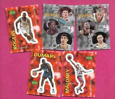 5 X 1997 BASKETBALL NBA STICKERS  CARD (INV# C3430)