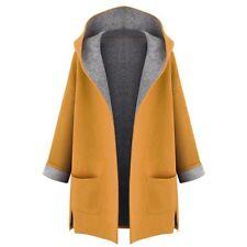 Women Warm Winter Hooded Coat Jacket Parka Long Overcoat Trench Outwear Cardigan