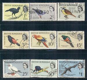 BRITISH HONDURAS 167-76 SG202-11 Used 1962 QEII Birds short set of 9/12 Cat$7